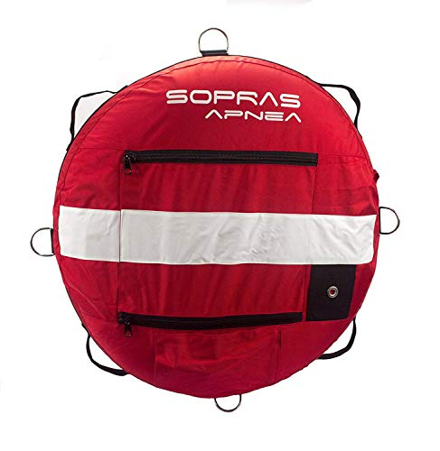 Sopras Sun training buoy for freediving with dive flag