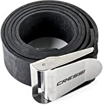 Cressi rubber weight belt with stainless steel buckle